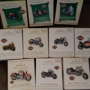 Hallmark Harley Davidson Mini Christmas Ornaments